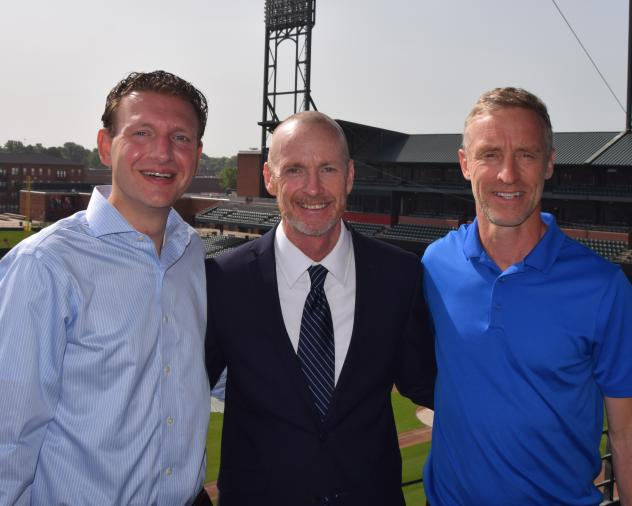 USL Memphis President Craig Unger, Head Coach Tim Mulqueen, and Sporting Director Andrew Bell