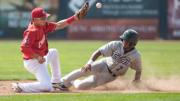 Tri-City Dust Devils slide in safely vs. the Vancouver Canadians