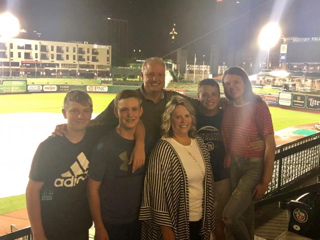 Amy Johnson & Family from Kendallville, 4,000,000th Fan at Parkview Field