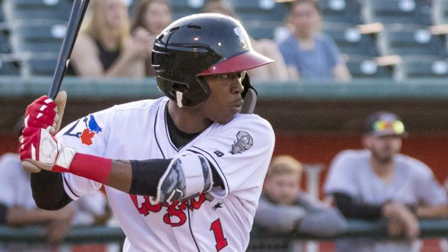 Samad Taylor of the Lansing Lugnuts