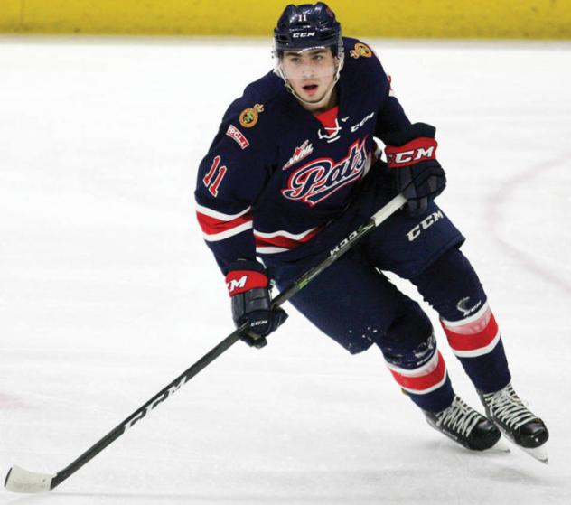 Forward Jeff de Wit with the Regina Pats