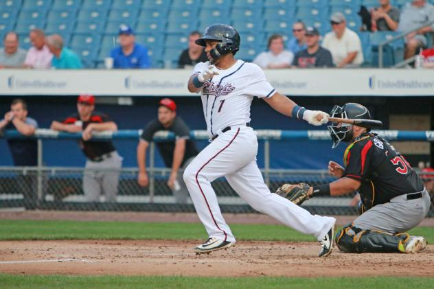 Adrian Sanchez of the Syracuse Chiefs drove in three runs, all coming in the final four innings Monday night