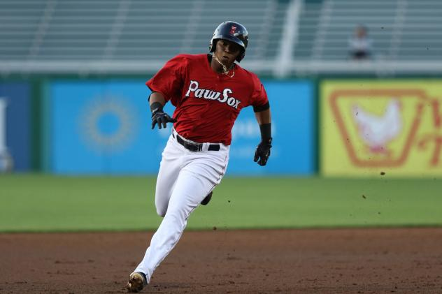 3B Rafael Devers with the Pawtucket Red Sox