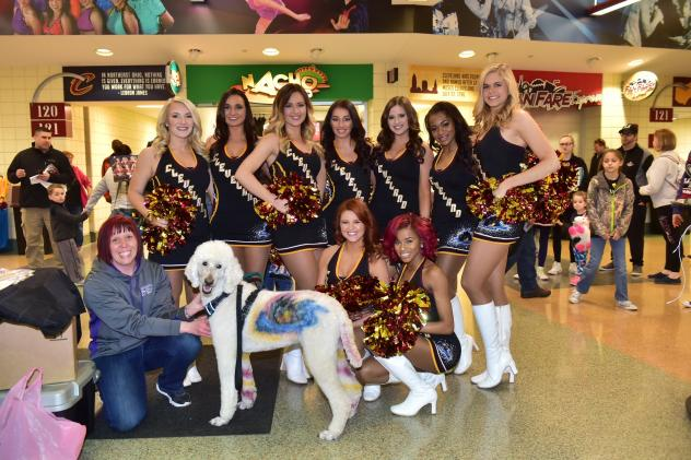 Cleveland Monsters cheer team