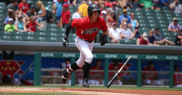 Shortstop Kevin Newman breaks out of the box for the Indianapolis Indians