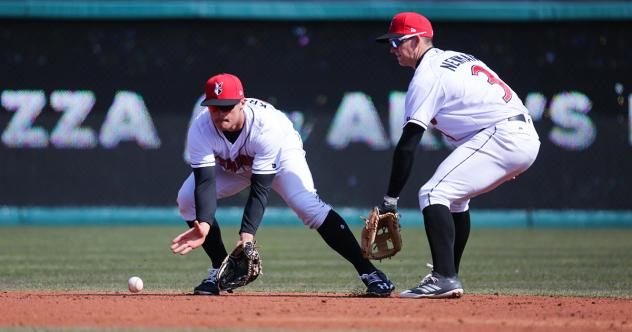 Shortstop Kevin Newman in the field for the Indianapolis Indians