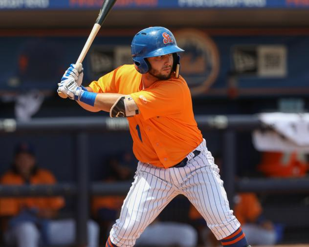 St. Lucie Mets third baseman Mike Paez