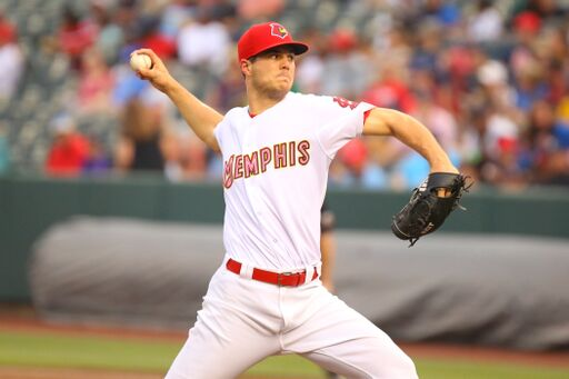 Memphis Redbirds right-handed pitcher Dakota Hudson