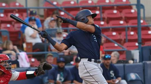 A big swing by the Everett AquaSox