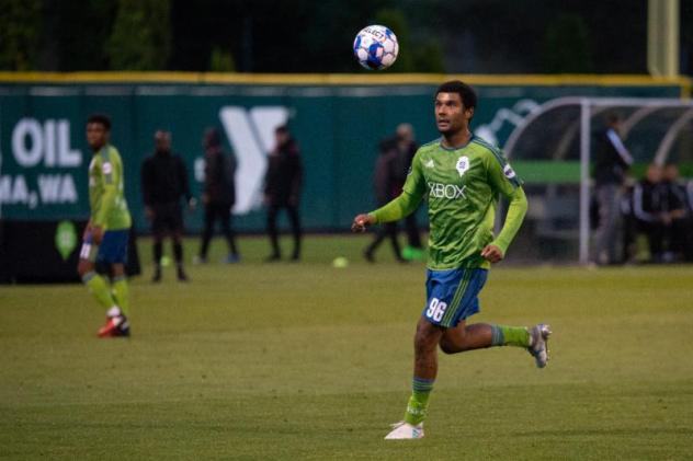 Jalen Markey made his first career start for Sounders FC 2