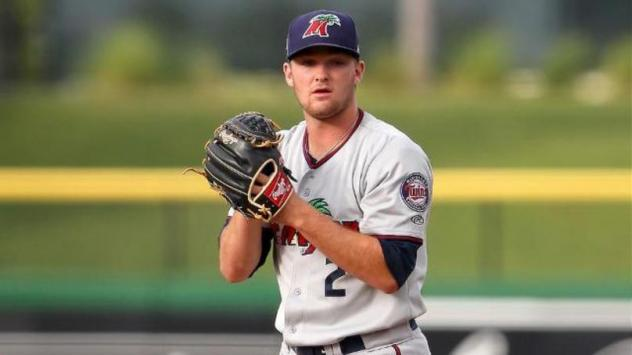 Kohl Stewart pitching with the Fort Myers Miracle