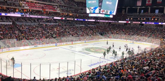 A record crowd at Wells Fargo Arena, home of the Iowa Wild
