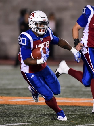 RB Tyrell Sutton with the Montreal Alouettes
