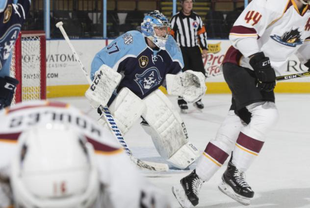 Goaltender Jake Paterson with the Milwaukee Admirals
