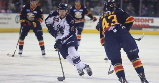 Charlie Sampair with the Tulsa Oilers