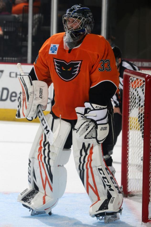 Lehigh Valley Phantoms goaltender Branden Komm