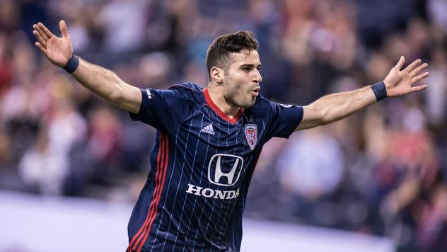 Indy Eleven forward Soony Saad