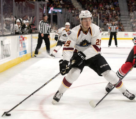 Forward Hayden Hodgson with the Cleveland Monsters