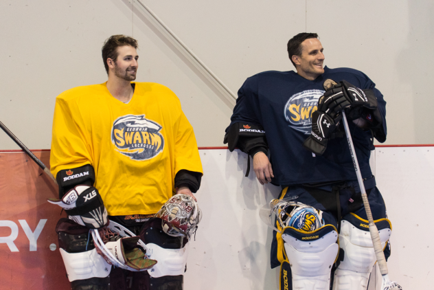 Mike Poulin and Kevin Orleman at Georgia Swarm practice