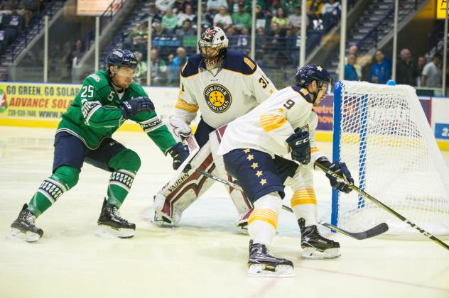 Norfolk Admirals defend their goal in shutout win over the Florida Everblades