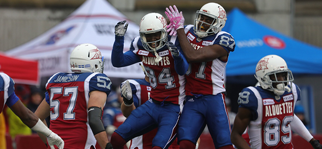 Montreal Alouettes celebration