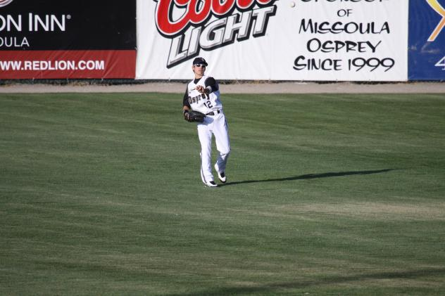 Outfielder Ender Inciarte with the Missoula Osprey in 2009