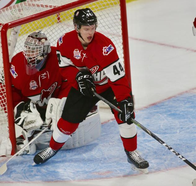 Vancouver Giants defenceman Bowan Byram with Team WHL during the CIBC Canada Russia Series