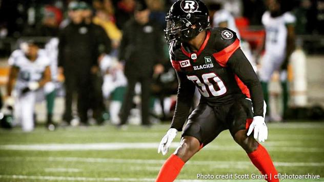 DB Adrian James with the Ottawa RedBlacks