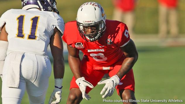 DB La'Darius Newbold with Illinois State University