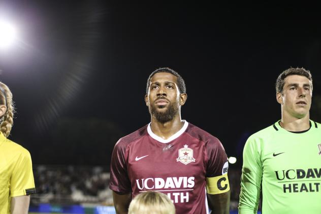 Jeremy Hall with Sacramento Republic FC