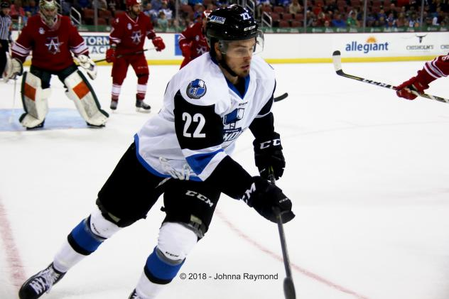 Forward Greg Chase with the Wichita Thunder