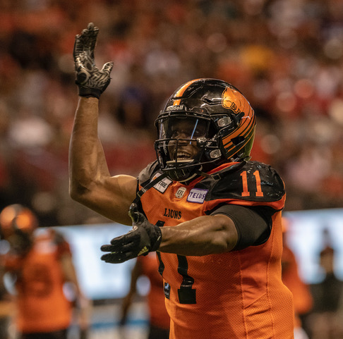 BC Lions defensive end Odell Willis
