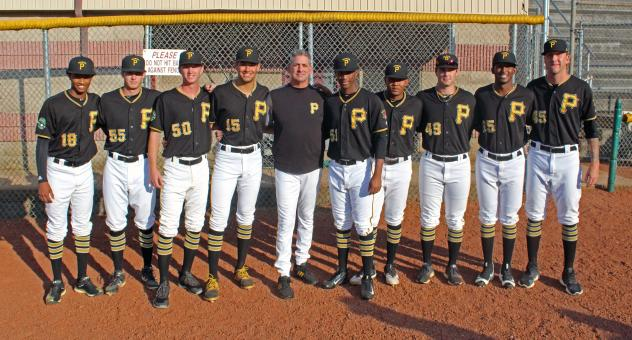 Bristol Pirates with pitching Coach Joey Seaver