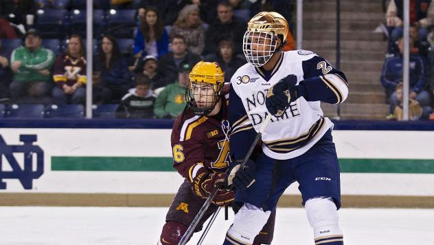 Justin Wade with the University of Notre Dame