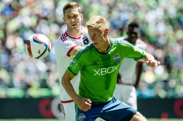 Seattle Sounders FC midfielder Andy Rose