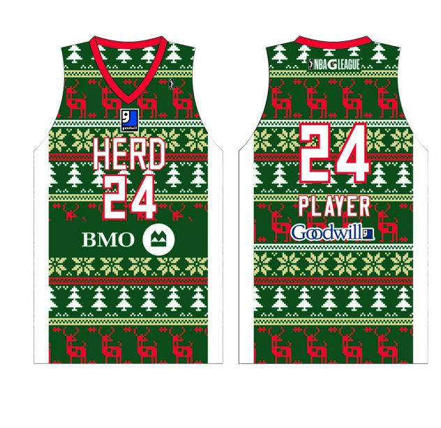 Wisconsin Herd's Holiday-Themed Jersey