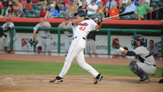 J.D. Martinez with the Tri-City ValleyCats