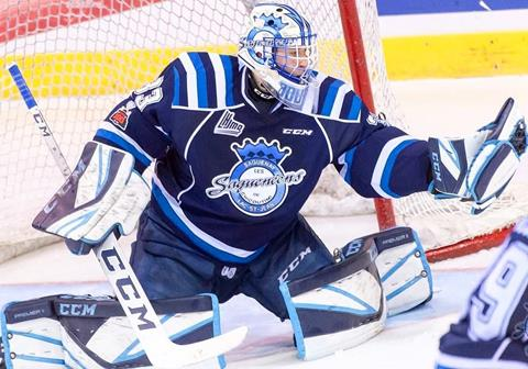 Goaltender Zachary Bouthillier with the Chicoutimi Sagueneens