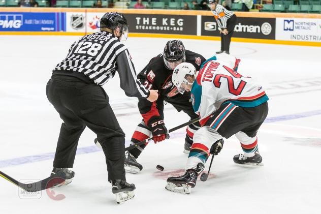 Kelowna Rockets face off with the Prince George Cougars