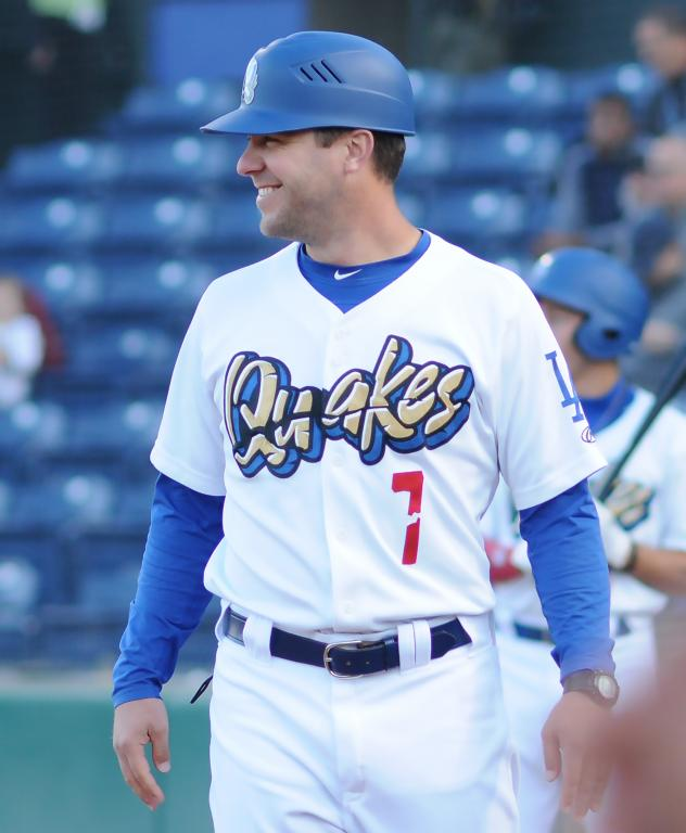 Drew Saylor with the Rancho Cucamonga Quakes in 2018