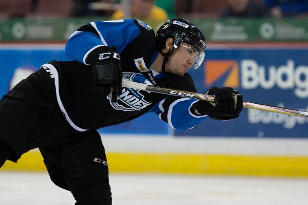 Defenseman Eric Roy with the Wichita Thunder