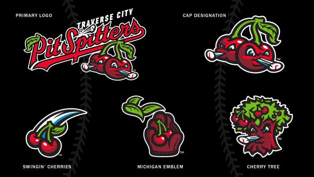 Traverse City Pit Spitters logos