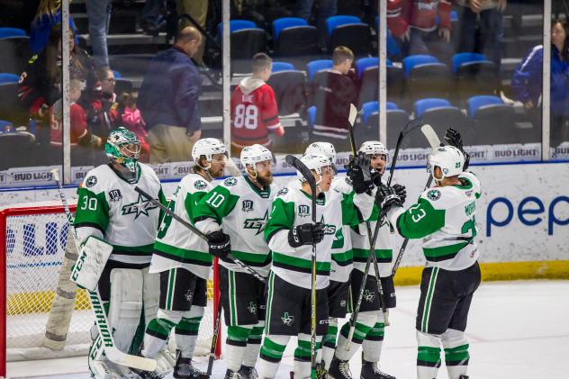 Texas Stars exchange congratulations after win at Rockford