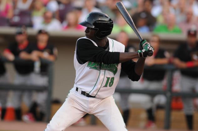 Didi Gregorius with the Dayton Dragons in 2010