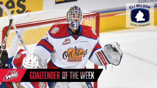 Edmonton Oil Kings goaltender Dylan Myskiw