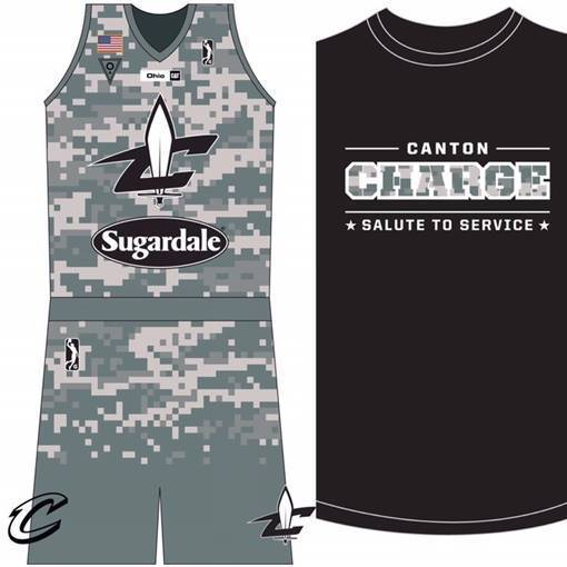 Canton Charge Salute to Service uniforms