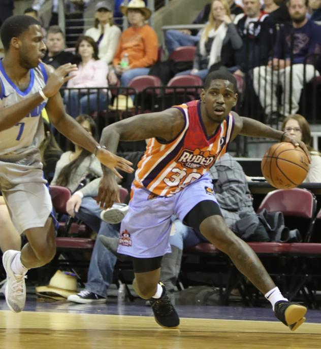 Jawun Evans of the Northern Arizona Suns in his Rodeo Clowns jersey