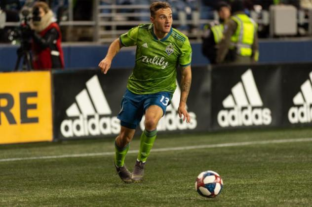 Seattle Sounders FC forward Jordan Morris returns to the playing field after suffering a torn ACL at the beginning of last season