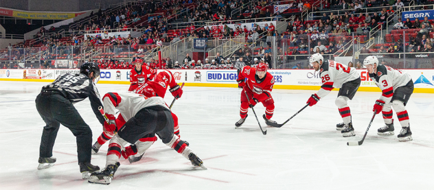 Binghamton Devils face off against the Charlotte Checkers