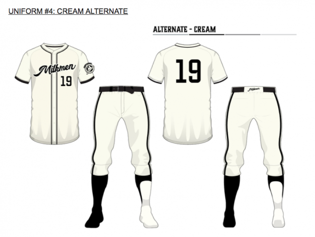 Milwaukee Milkmen cream uniform